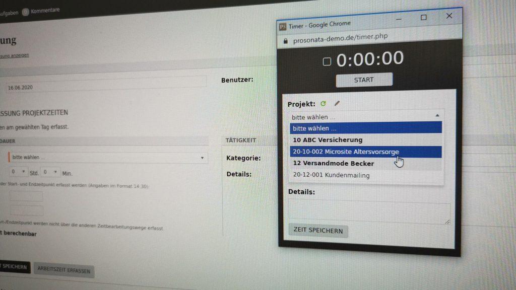 Jan Stellmach Zeiterfassung mit ProSonata