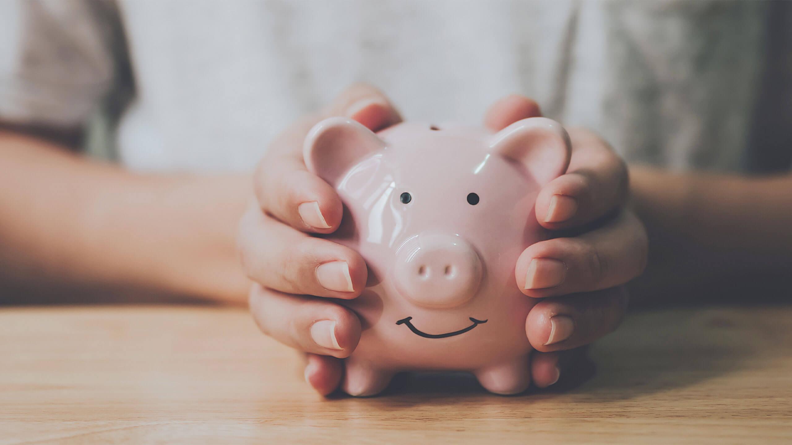 Marketingbudget für Gründer - Sparschwein